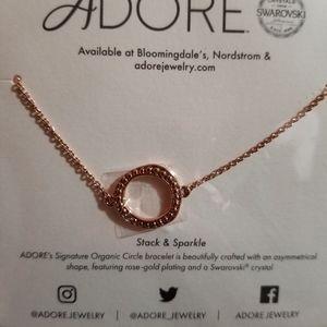 ADORE Stack & Sparkle Organic Circle Bracelet